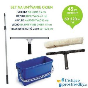 Sada na umývanie okien 45 cm ateleskopická tyč 60-120 cm