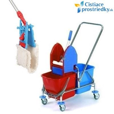 Set na umývanie podlahy - vozík s mopom 40 cm