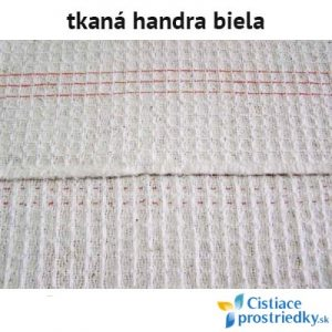 Handra na podlahu tkaná biela 50 x 60 cm