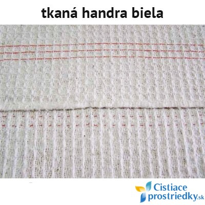 Handra na podlahu tkaná biela 60 x 70 cm