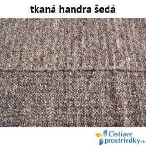 Handra na podlahu tkaná šedá 50 x 60 cm