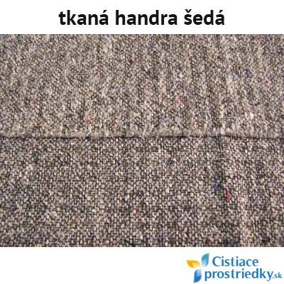 Handra na podlahu tkaná šedá 60 x 70 cm
