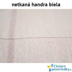 Handra na podlahu bavlnená biela netkaná 60 x 70 cm